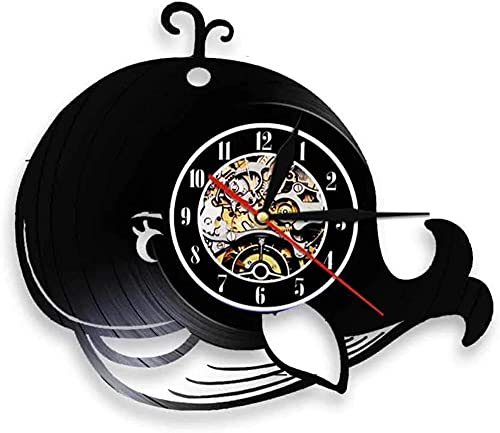 chazuohuaile Co.,ltd Reloj De Pared Reloj De Pared con Disco De Vinilo De Diseño Led, Regalos para Cumpleaños, Ideas Navideñas para Niños, Niñas, Hombres, Mujeres, Adultos, Él Y Ella