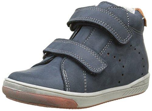 Babybotte Antilles, Chaussures avec fermeture velcro Garçon, Bleu (136 Marine/Orange), 22 EU