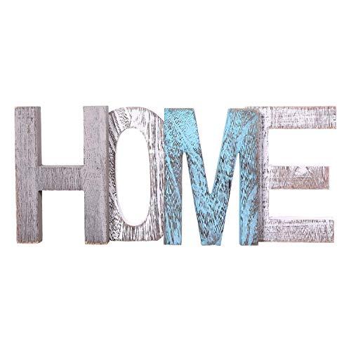 Letras de madera decorativas 'HOME' - Letras de madera grandes para decoración...