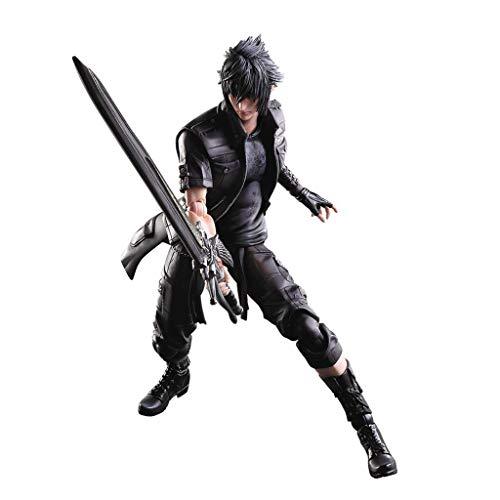 siyushop Final Fantasy: Noctis Play Arts Kai Action Figure - Ausgestattet Mit Waffen Und Austauschbaren Händen - High 27cm (Nicht Originale Version)