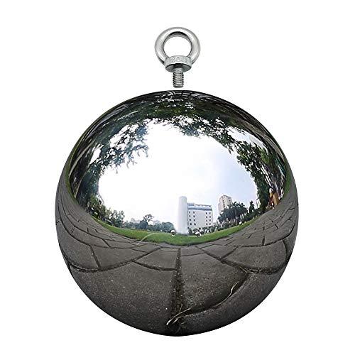 Williamly Bola De Espejo Globo De Observación En Acero Inoxidable Plateado - Bola Hueca De Metal Remache con Forma De Bola, 5 Tamaños