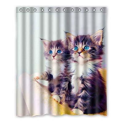 Dalliy brauch divertente gatto nascosto impermeabile poliestere Shower Curtain Tenda da Doccia 152cm x 183cm, poliestere, c, 60' x 72'