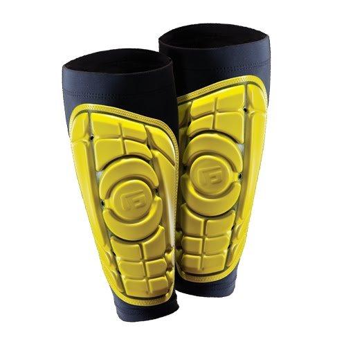G-Form Parastinchi Calcio PRO-S. Ideali per Calcetto, Kick-Boxing e Hockey. Estesa Protezione ed Estrema Flessibilità-Giallo-XL Unisex Adulto