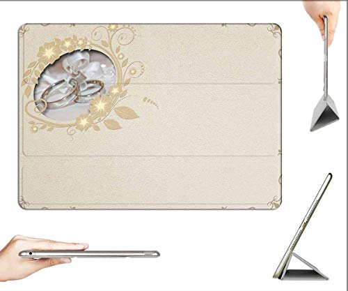 Case for iPad Pro 12.9 inch 2020 & 2018 - Wedding Rings Wedding Embossing Background Image