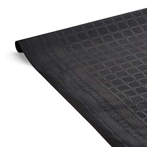 Le Nappage - Mantel en papel negro de Damasco - Mantel hidrófugo - Reciclable y Biodegradable - Mantel en rollo de 1.18 x 6 metros