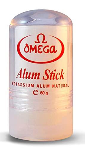Omega Potassium Alum Stick After Shave Shaving Facial Toner Treatment of Razor Cuts & Nicks
