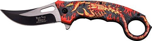 Dark Side Blades Taschenmesser Scorpion in Flame, Klingenlänge: 7,49cm, DS-A052
