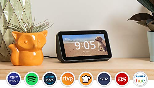 Echo Show 5 reacondicionado certificado, una pantalla inteligente y compacta con Alexa, blanco