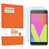 TANTEK [3-Pack] Screen Protector for LG V20,Tempered Glass Film,Ultra Clear,Anti Scratch,Bubble Free,Case Friendly