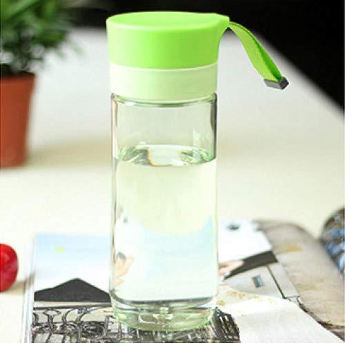 Jusemao Botella de agua deportiva portátil a prueba de caídas simple 400ml-green_500ML