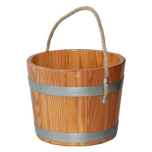 Seau de sauna en bois de mélèze