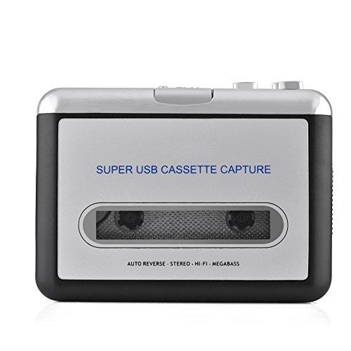 Ymiko Kassettenspieler, Kassettenrekorder USB Kassetten zu PC MP3-CD-Umschalter Konverter Audio Musik Player mit Kopfhörern