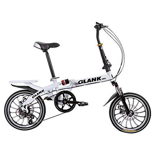 Moxiu Lightweight Bicycle,Mini Folding Bike Small Portable Bicycle Adult Student 20 Inch