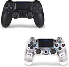 Wireless Controller for PS4 2 Pack, PS4 Gamepad for PS4-TATECH Wireless Controller for Playstation 4, 3rd-Party Works (Tra...