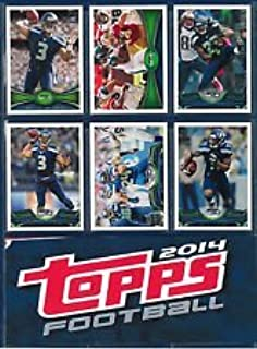 Seattle Seahawks 2012, 2013, 2014 Topps Football complete team sets including Russell Wilson Rookie Card (RC) and Super Bowl Team set shipped in an acrylic case plus a Super Bowl Program