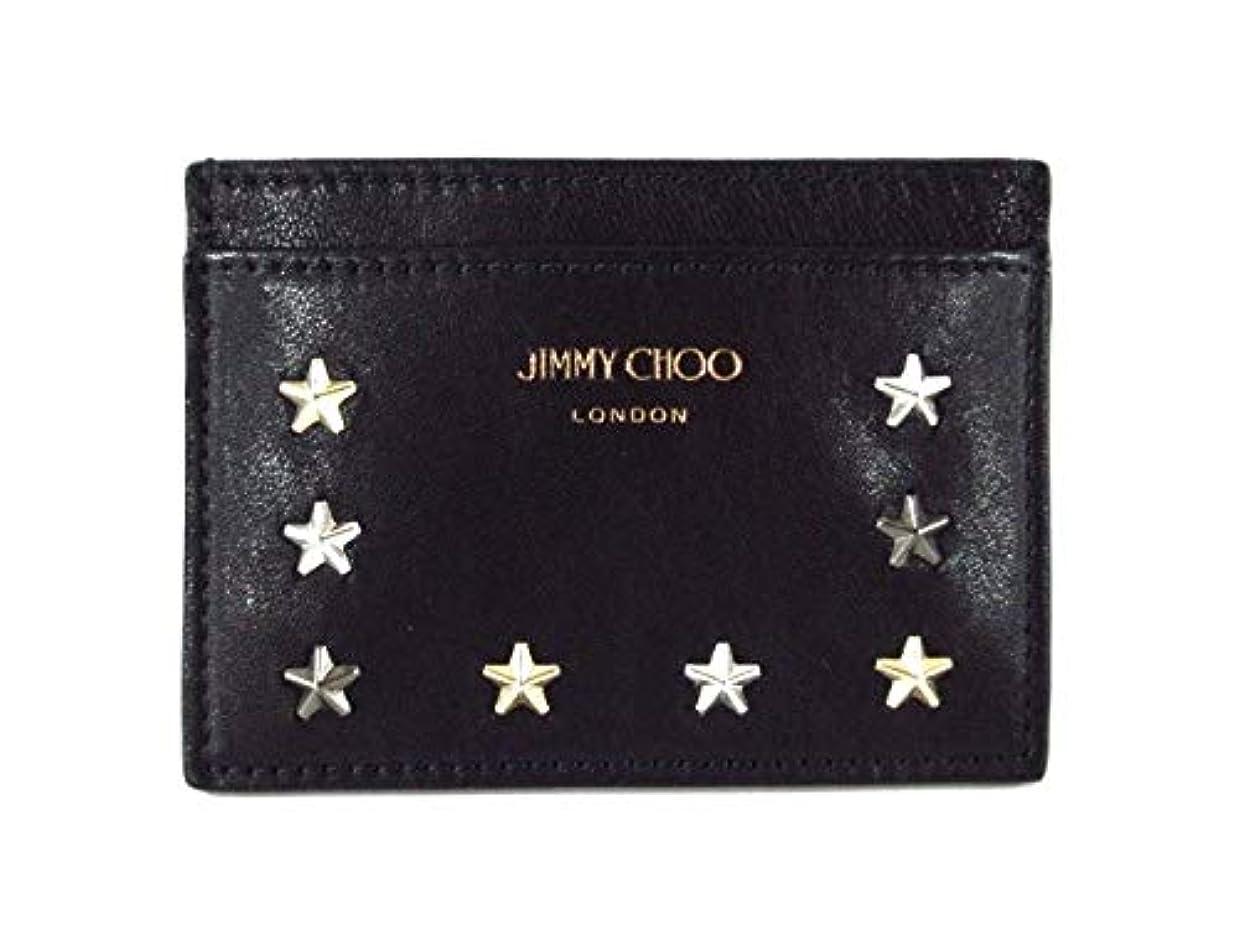 のスコア請求可能用心深い(ジミーチュウ)Jimmy Choo カードケース 黒 ノエラ 【中古】