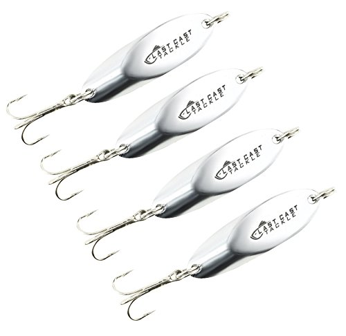 Last Cast Tackle 2-8oz Chrome Hammered Hex Diamond Jig 2 Pack 3 Sizes to Choose from