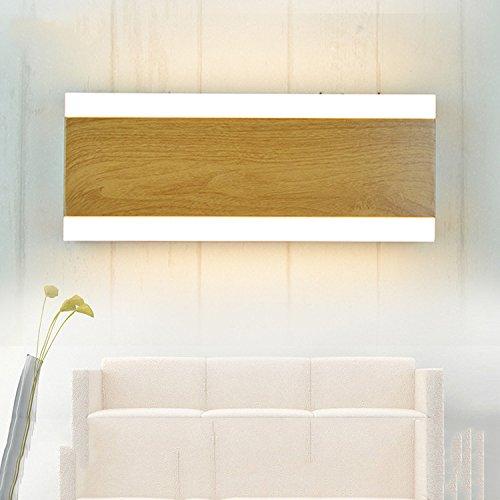 ZHFC-les feux modernes du mur du salon minimaliste nordique imitation bois feu chambre lampe de chevet l'art miroir lampe,longtemps lumière chaude