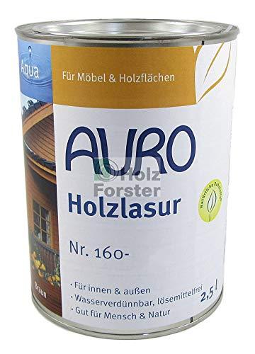 AURO Holzlasur Aqua Nr. 160-90 Weiß, 2,50 Liter