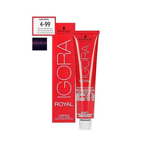 Schwarzkopf Igora Royal 4-99 Coloration professionnelle pour cheveux Brun moyen/violet 60 ml