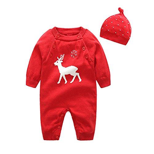 エルフ ベビー(Fairy Baby)クリスマスベビーロンパース 帽子付き トナカイ コスチューム 仮装 着ぐるみ 90cm