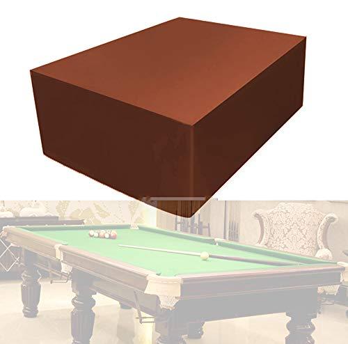 73FACAI Billardtisch Staubschutz Tischschutz Staubdicht Wasserdicht 7/8/9 FT Outdoor Full Pool Solid Mit Kordelzug 210D Oxford,Brown,9ft