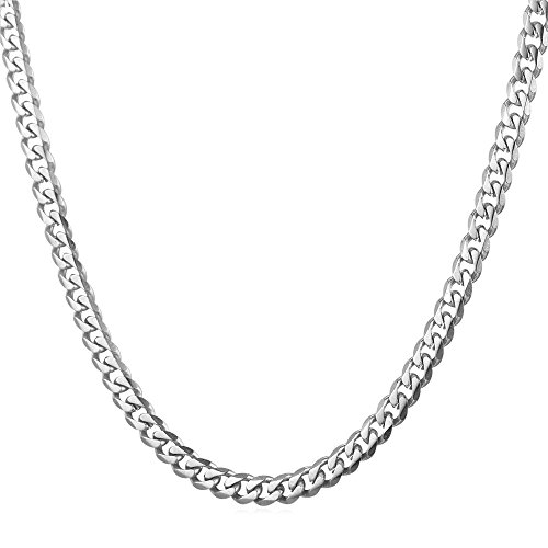U7 GN2273 Necklace Men's Flat Link Chain 0.1 - 0.5 inches (3 - 12 mm) 18.1 - 29.9 inches (46 - 76 cm) Hip Hop Accessory 18K Gold Plated