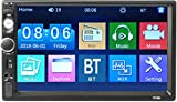 iMounTEK 7 Inches Universal BT Car MP5 Player 1080P Video Player Stereo Audio FM Radio Aux/USB/TF Input with Rear View Camera Remote Control