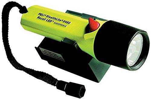 Peli 2460 Stealthlite à spirales Rechargeable LED, 120 (Jaune)