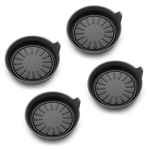 Seven Sparta Car Coasters for Cup Holders, Silicone Cup Holder Coasters, Universal Vehicle Coasters, Set of 4 Pack, 3-1/8' Diameter