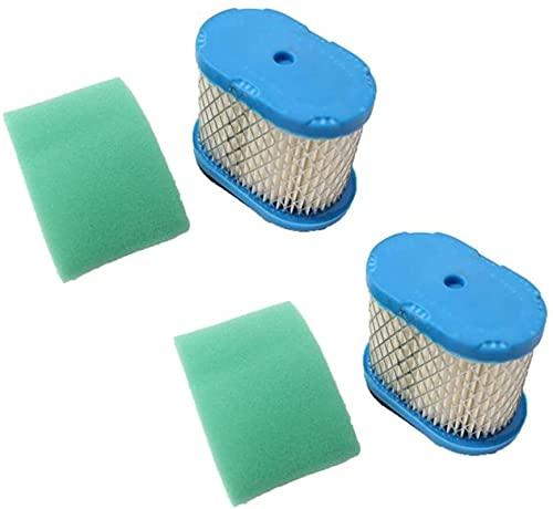 2 piezas de accesorios de repuesto de prefiltro de filtro de aire aptos para Briggs Stratton 498596 690106 690610 697029 273356S 60-65 OHV 5,5-6,5 HP Exquisito