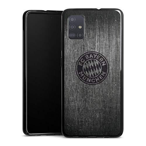 DeinDesign Silikon Hülle kompatibel mit Samsung Galaxy A51 Case schwarz Handyhülle Metallic Look FCB FC Bayern München