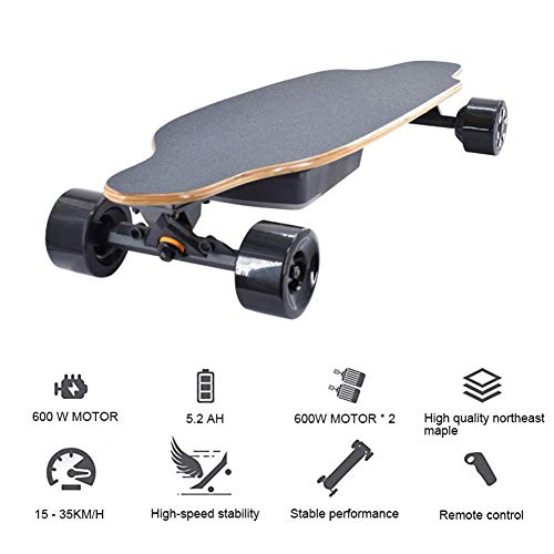 WXDP Patineta Cruiser Pro,Patineta eléctrica Pro Skateboard 40 KM/H de Velocidad máxima,...
