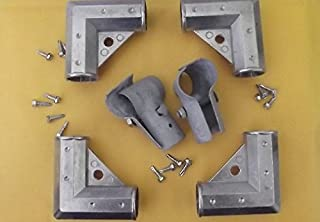 Master Halco NO Weld GATE KIT for Chain Link/Dog Kennel Panel - 1-3/8