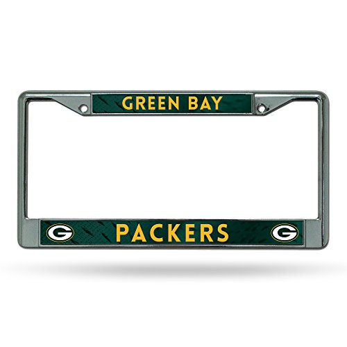 Rico Industries NFL Green Bay Packers Chrome Licensed Plate Frame Auto Car Truck