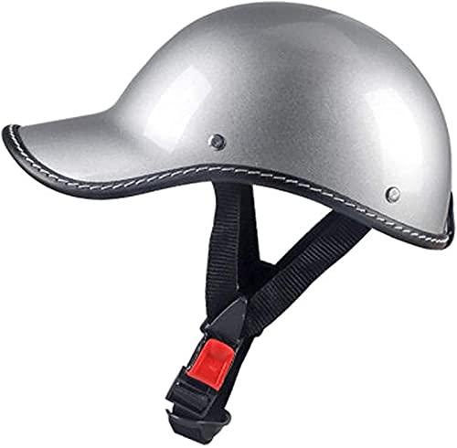 Klassischer offener Motorradhelm, tragbare Halbhelme Retro Helm Helm Motorradhelm, DOT-Zertifizierung, für Moped Bobber Rider Crash Chopper Helme Cromwell Schutzhelm A,54-58CM