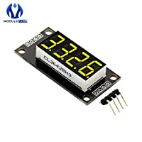 "0.36"" 0.36 Inch Yellow TM1637 7 Segments Digital Display Tube 4-Digit LED Module Board For Arduino Diy Electronic"