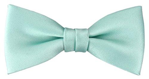 TigerTie Kleinkinder Baby Fliege in mint grün Uni - Gr. 29 bis 50 cm Halsumfang verstellbar + Aufbewahrungsbox