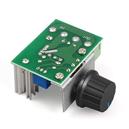 ACEHE Regulador de Voltaje, 1Pc 220V 2000W Controlador de Velocidad Regulador de Voltaje SCR Atenuadores Termostato Módulo regulador de Voltaje del Molde electrónico