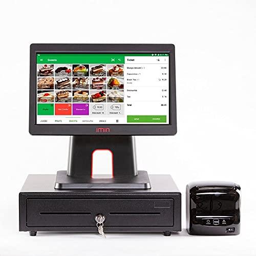 Packs TPV Android 15', Marca IMIN, Modelo D3 con Impresora + Cajon portamonedas Geon, Software Loyverse Incluido, Restaurantes, Cafeterias, Heladerias
