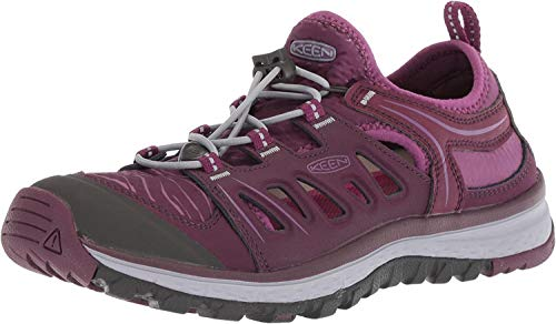 KEEN Women's Terradora ETHOS-W Hiking Shoe, Mulch/Blue Turquoise, 5 M US