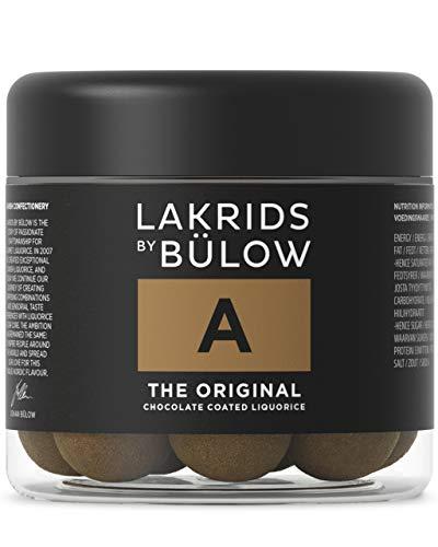 LAKRIDS BY BÜLOW - A - THE ORIGINAL - 125g - Dänische Gourmet Lakritz-Kugeln - Süßer Lakritzkern umhüllt von Vollmilch-Schokolade und feinem Lakritzpulver - Süßigkeiten Geschenk für Lakritze Liebhaber