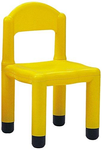 Italveneta Didattica 20014 – kinderstoel met kant voor benen, met 5 cm, van kunststof geel