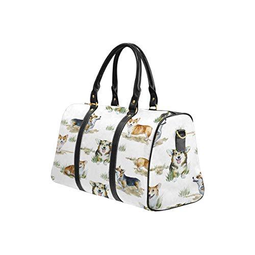 InterestPrint Carry-on Garment Bag Travel Bag Duffel Bag Weekend Bag Watercolor Corgi Pembroke