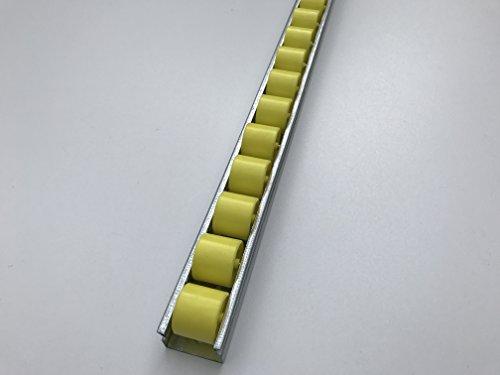 Röllchenleiste Röllchenschiene mit Kunststoffröllchen Ø 28 mm (Länge: 1 m)