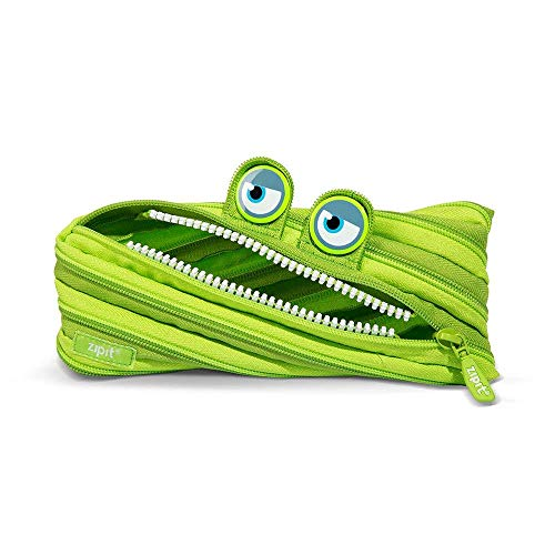 Zipit ZTM-WD-ALI Wildlings - Astuccio realizzato con un'unica zip lunga, colore: verde