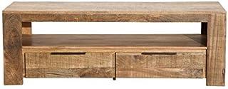 Casa Padrino Designer TV Cabinet Nature W.130cm x H.45cm x D.45cm - Aparador - Cómoda - ¡Hecho a Mano en Madera Maciza Mango!