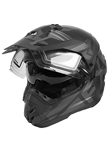 FXR Torque X Evo Snowmobile Helmet with Electric Shield and Sunshade Black Ops 2020 (Black Ops, XX-Large)