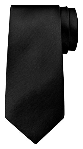 BomGuard 8 cm schwarz glänzend herren-krawatte damen seide männer frauen