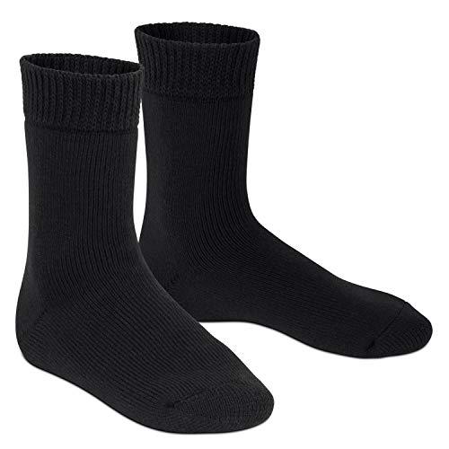 Footstar Damen und Herren Feet Heater Thermo Socken (1 Paar), Extra warme Winter Socken - Schwarz 43-46